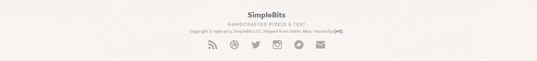 SimpleBits footer design