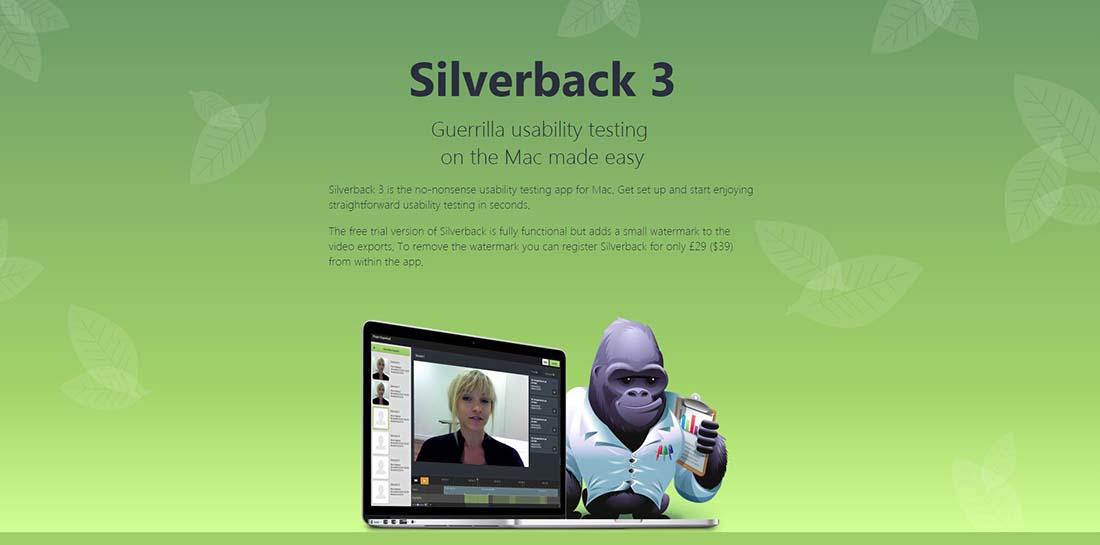 Silverback 3 Single Page Website Designs