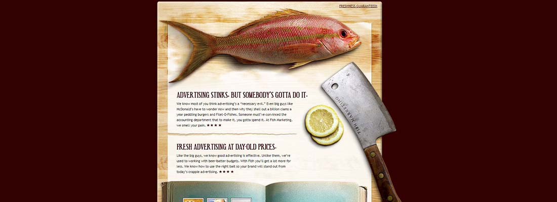 Fish Marketing Single Page Website Designs