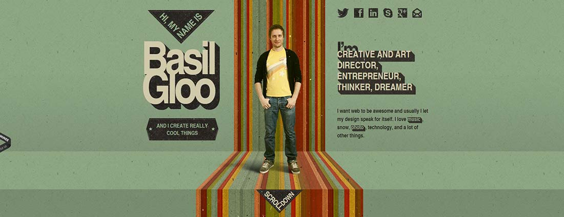 basil gloo Single Page Website Design