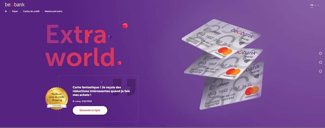 Mastercard World Single Page Website