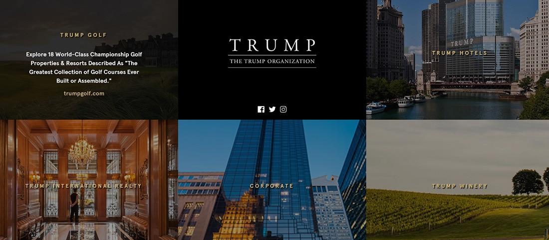 Trump Luxury Real Estate Hotel Web Designs