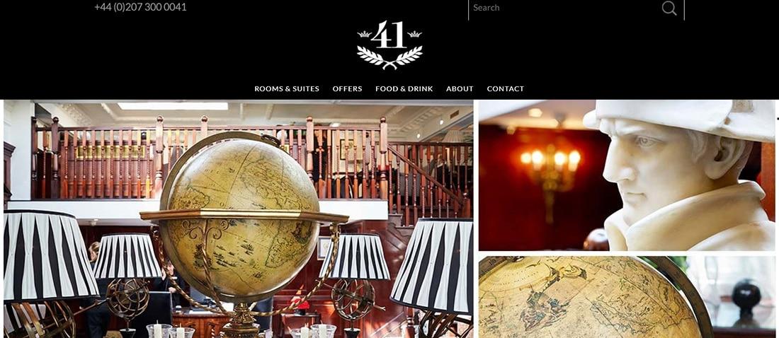 Hotel 41 Hotel Web Designs