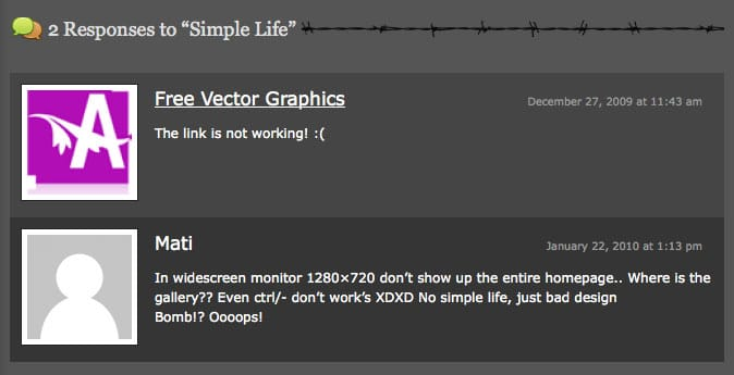 DesignBombs Comment Designs