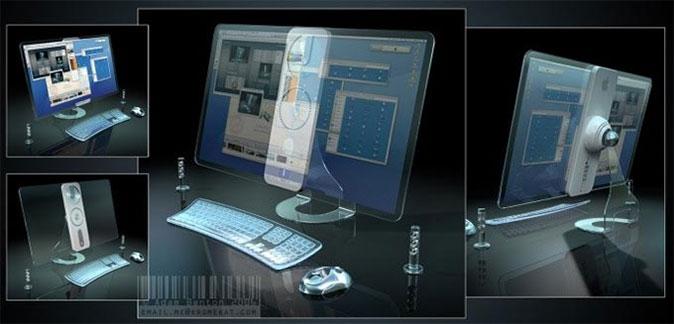 Transparent iMac Concept