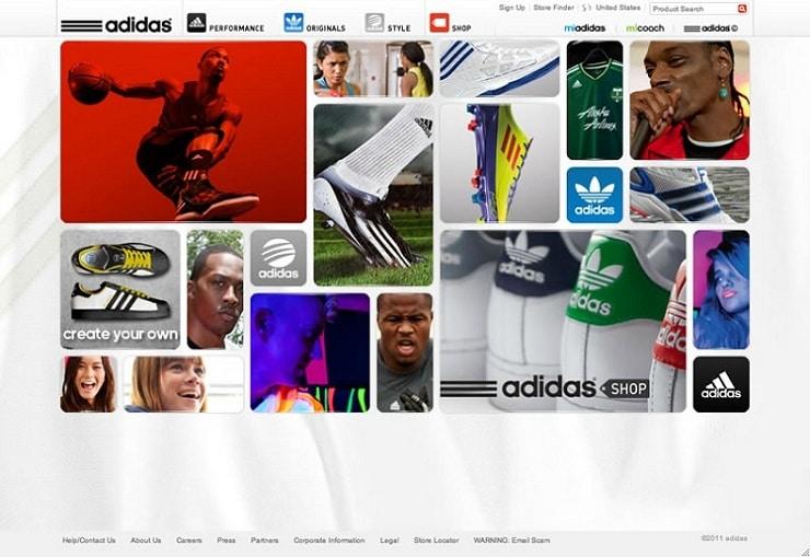 adidas Flash Websites