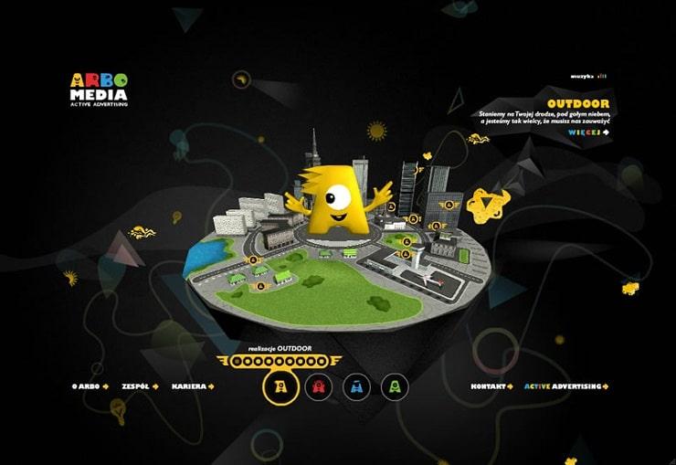 arboMedia Flash Website