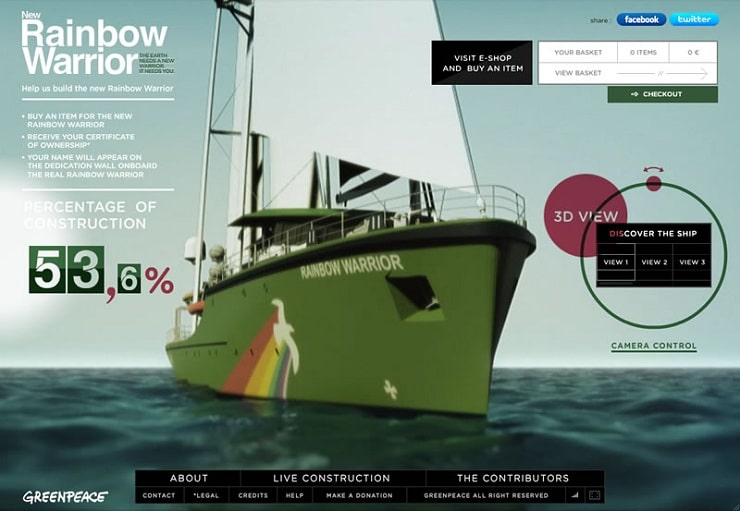 greenpeace Flash Website