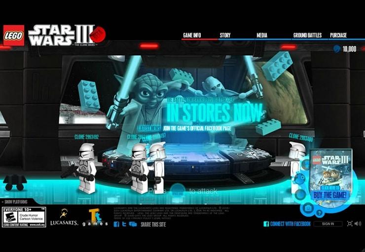 legoStarWars Flash Website