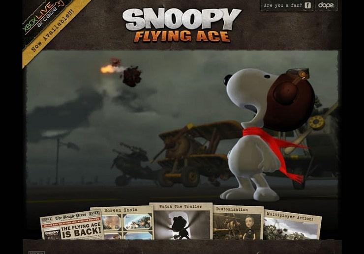 snoopy Flash Website