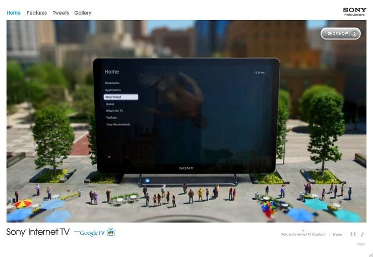 sony Flash Website