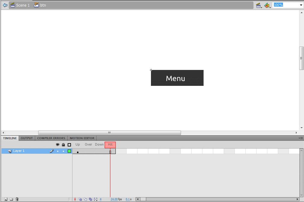 drop down menu in flash tutorial