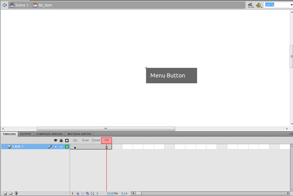 Create a drop down menu in flash actionscript 2. 0.