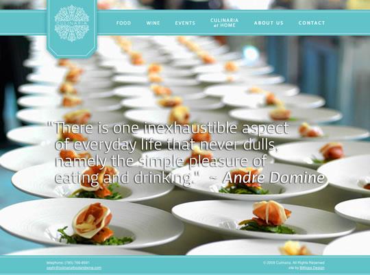 Culinaria Food Website Design