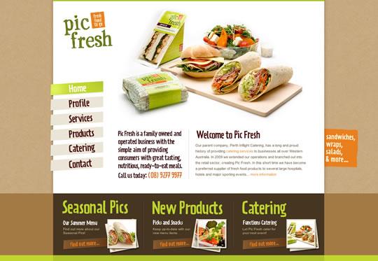 Pic Fresh Food Websites