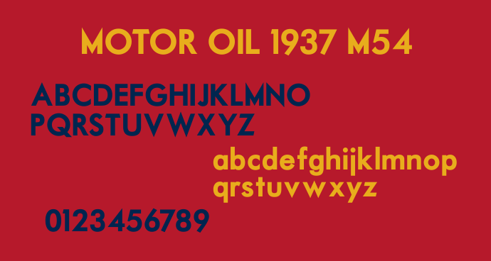 Motor Oil Free Fonts