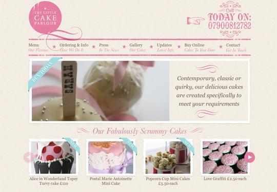 Cake Parlour Food Website Design
