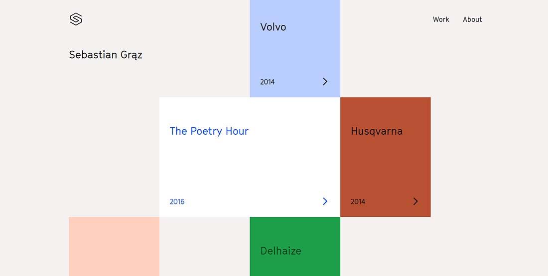 Sebastian Graz Web Designer Portfolio Websites
