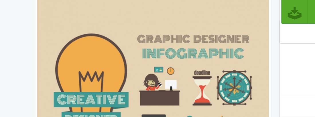 Graphic designer infographic template Vector