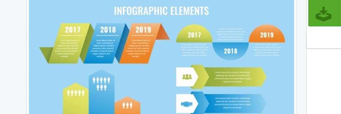 Flat infographic elements Vector