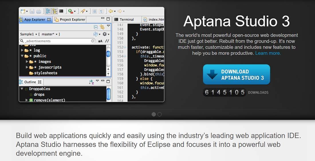 Aptana Web Design Tools