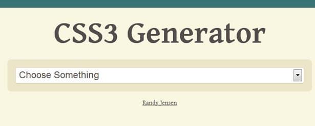 CSS3 Generator free Web Design Tool