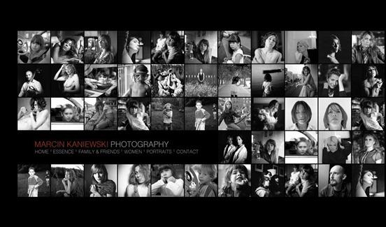 Marcin Kaniewski Black and White Website