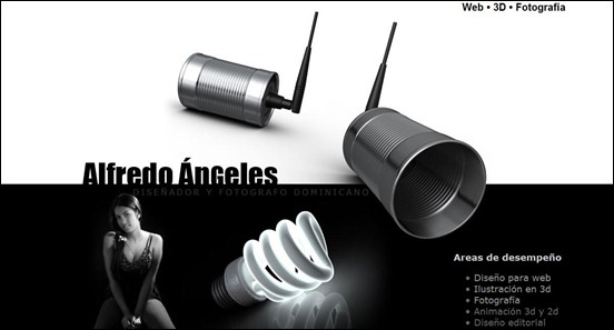 Alfredo Angeles Black and White Websites