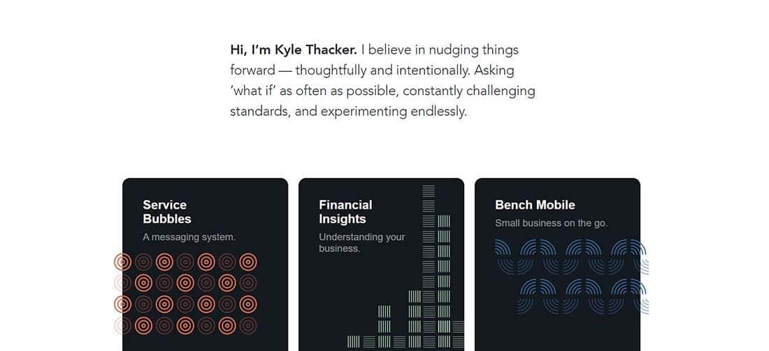Kyle Thacker Minimalist Portfolio Websites