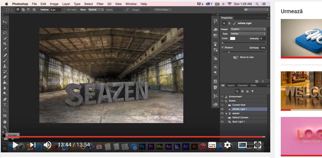 Photoshop CC Tutorial 3D Text Effects