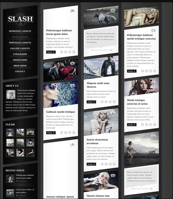 Slash WP Grunge WordPress Theme