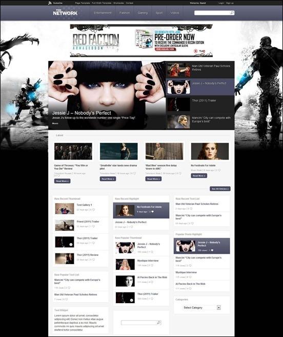 The Network Grunge WordPress Themes