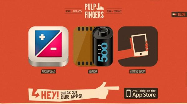 vintage website design plulfingers