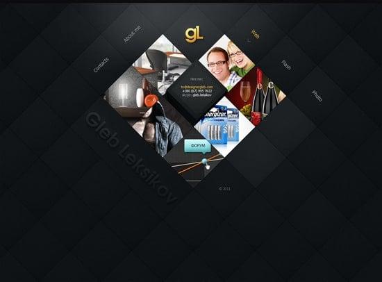 designer  gleb web design inspiration
