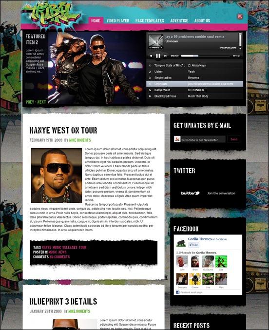 Tribal Music Grunge WordPress Theme