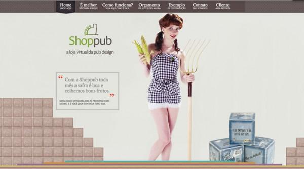 Shoppub vintage website design