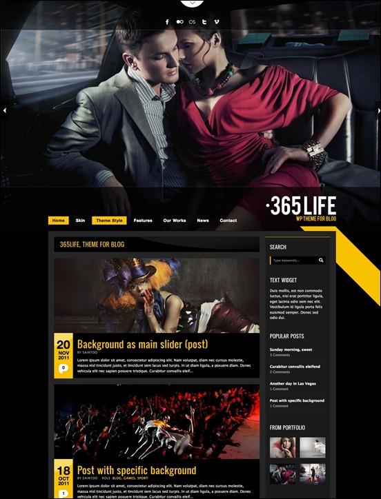 365Life Grunge WordPress Theme