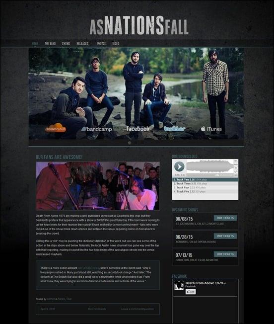Dark N Gritty 2.0 Grunge WordPress Theme