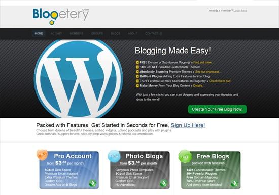 blogetery free blog platform