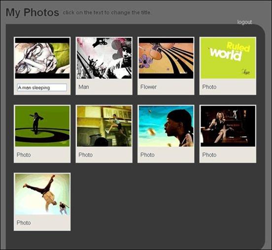 create photo admin site jQuery