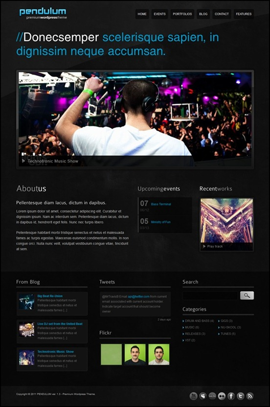Pendulum Grunge WordPress Theme