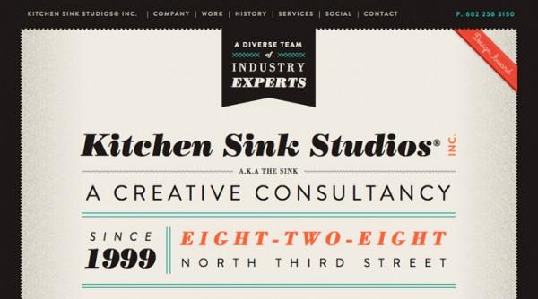 Kitchen Sink Studios vintage website design