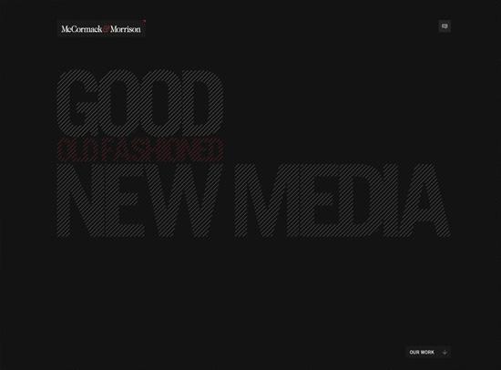 McCormack & Morrison web design inspiration
