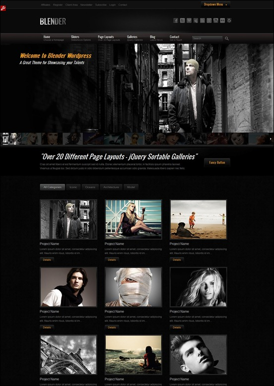 Blender Grunge WordPress Themes