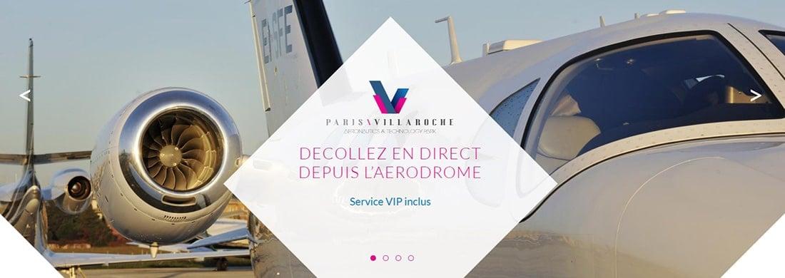 Paris Villaroche Websites with Angled Graphics