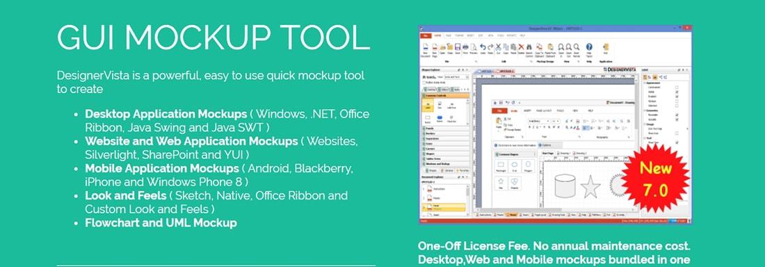 DesignerVista Mockup Tool User Interface Design Tools