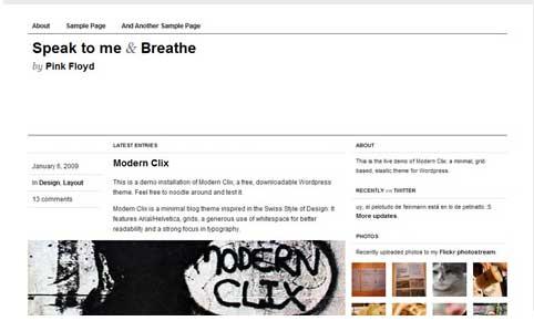 Modern Clix free wp theme