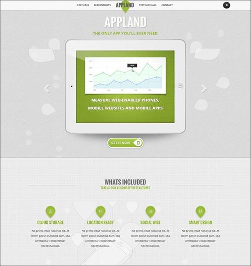 Landing page шаблоны пример