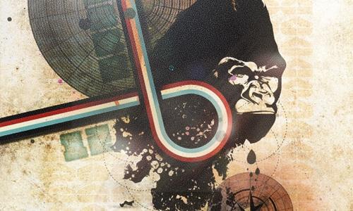 Design a Vintage Poster using Vector Packs