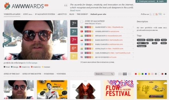 Awwwards CSS Gallery Website